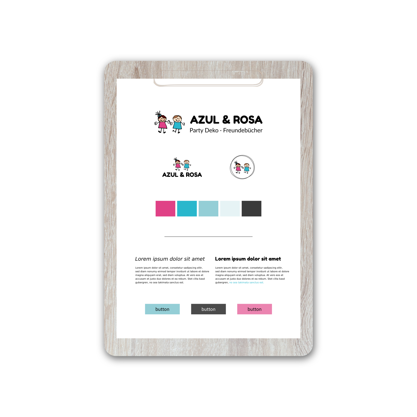 Azul & Rosa | Brand Strategy & Web Design by Red Ruby Sphere