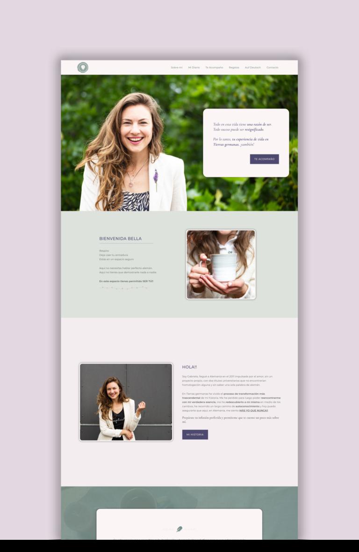 Estrategia de Marca & Diseño Web | Red Ruby Sphere by Alma Seidel | Testimonio - Portfolio | Gabriela Varela Lopez - Ser feliz en Alemania